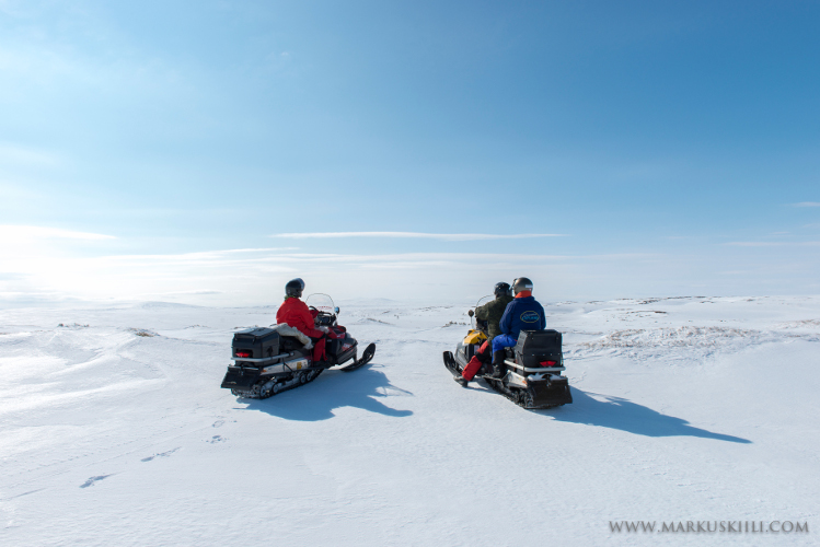 Snowmobile safaris in Enontekiö